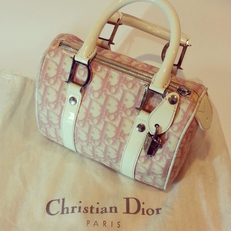f9a17f9d9793 Christian Dior Boston Speedy Bag in Pink Diorissimo – Tas Dior ...